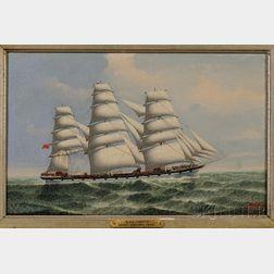 Lai Fong (Calcutta,  ac. c. 1900)      Portrait of the Ship CLYDE.