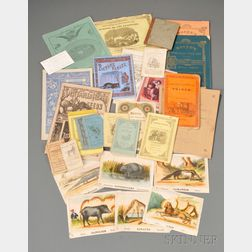 Group of 19th Century Softcover Children's Books, Catalogs, and Historical and   Religious Publications and Ephemera