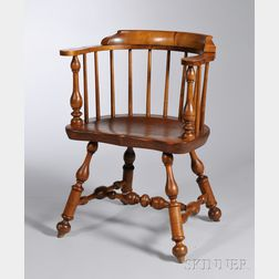 Wallace Nutting Maple and Pine Pennsylvania Windsor Low-back Armchair