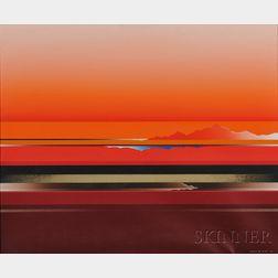 Tetsuro Sawada (Japanese, 1933-1998)      Red Skyscape