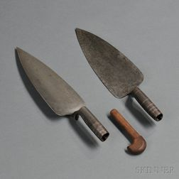 Two Model 1873 Trowel Bayonets With One Walnut Insert