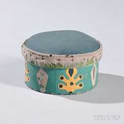Round Pincushion Wallpaper Circular Box