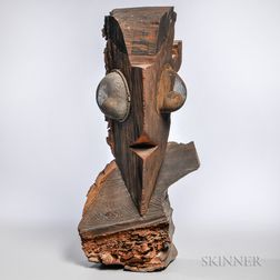 Denis G. Barrington (British, 1930-1999) Stylized Owl Sculpture