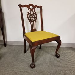 Chippendale Carved Mahogany Side Chair