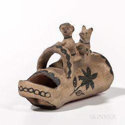Cochiti Polychrome Pottery Figure