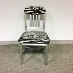 Art Metal Construction Co. Brushed Aluminum Office Chair