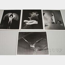 Harold Eugene Edgerton (American, 1903-1990)      Lot of Four Works: Baton, Dancer Gustave Solomons, Hummingbird
