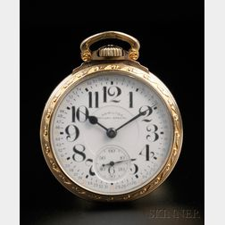 """Hamilton 21-jewel """"Railway Special"""" Gold-filled Open Face Watch"""