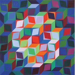 Victor Vasarely (French/Hungarian, 1908-1997)      Torony III