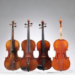 Four Full Size Violins