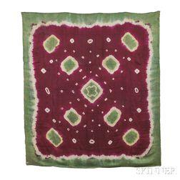Tie-dyed Silk Headscarf