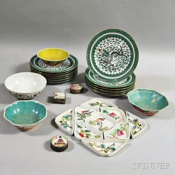 Twenty-eight Assorted Chinese Export Dishes and Boxes