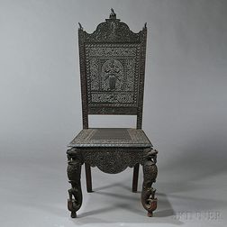 Anglo-Indian Rosewood Side Chair