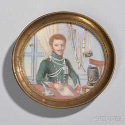 Portrait Miniature of a French Officer