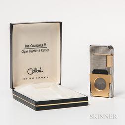 "Coibri ""The Churchill V"" Cigar Lighter and Cutter"