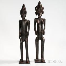 Pair of Male and Female Senufo Figures