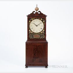 Aaron Willard Mahogany Dish-dial Shelf Clock
