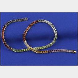 Gem-set Rainbow Necklace