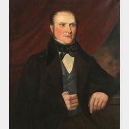 American School, 19th Century  Portrait of a Boston Merchant.