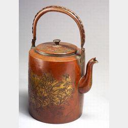 Gilt-Copper Kettle