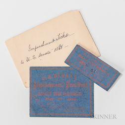 Printed President Andrew Johnson Impeachment Ticket