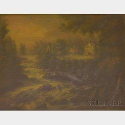 Charles Hubbard  (American, 1801-1876)      The Falls at Nashua, New Hampshire
