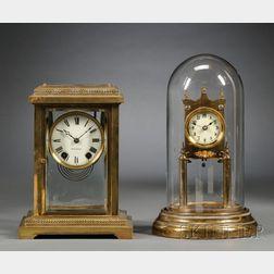 Seth Thomas Crystal Regulator and a Gustav Becker Torsion Clock