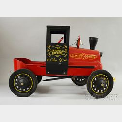 """Casey Jones Cannonball Express No. 9"" Painted Metal Pedal Car"