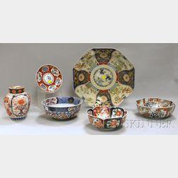 Six Japanese Imari Porcelain Items