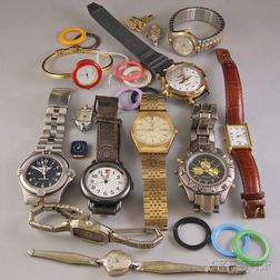 Small Group of Lady's and Gentleman's Vintage and Fashion Wristwatches
