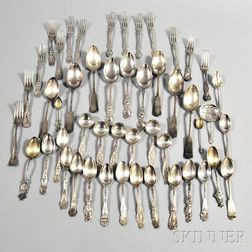 Group of Mostly Sterling Silver Assorted Flatware