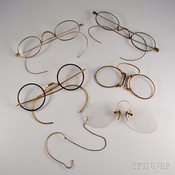 Five Pairs of Gold and Gold-filled Spectacles