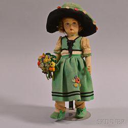 Lenci Felt Girl Doll