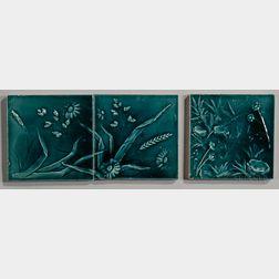 Three Trent Tile Company Art Pottery Tiles