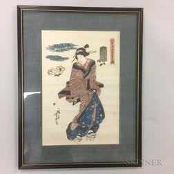 Utagawa Yoshitora (active c. 1850-80) Woodblock Print