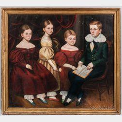 American School, 19th Century      Family Portrait of Four Children