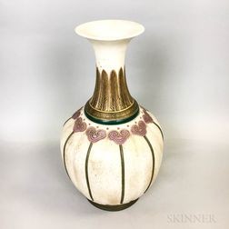 Royal Worcester Asian-style Art Deco Ceramic Vase