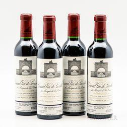 Chateau Leoville Las Cases 2001, 4 demi bottles