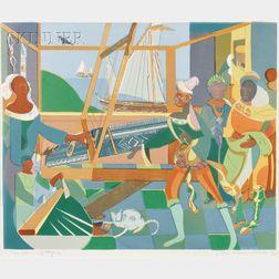 Romare Bearden (American, 1911-1988)      The Return of Ulysses