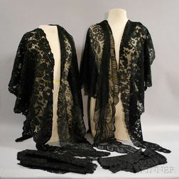 Six Black Lace Articles
