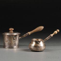 Two Georgian Sterling Silver Butter Warmers
