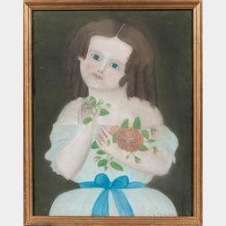 American School, Mid-19th Century      Portrait of Miss Meserve