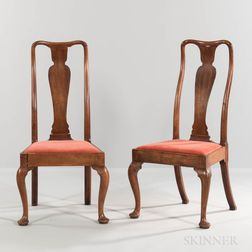 Pair of George I Walnut Side Chairs