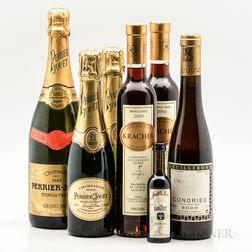 Mixed White Wines, 1 bottle 5 demi bottles 1 0.2L bottle