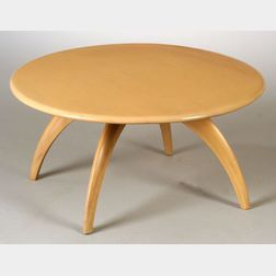 Heywood-Wakefield Revolving Maple Coffee Table