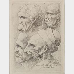 Wenceslaus Hollar (Czechoslovakian, 1607-1677), After Leonardo da Vinci    (Italian, 1452-1519)