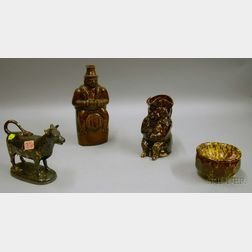 Rockingham and Bennington Glazed Ceramic Articles