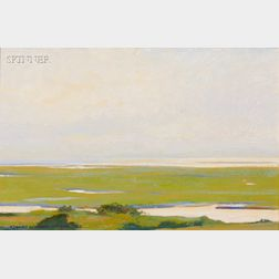 Lot of Two Works:      Robert Douglas Hunter (American, b. 1928), Early Morning Light,   Nauset Beach