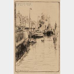 Frank Milton Armington (Canadian, 1876-1941)      Two Coastal Views: Le Port du Havre