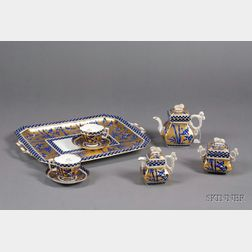Coalport Porcelain Tete-a-Tete with Tray